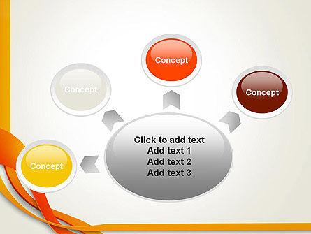 Orange Stream Waves PowerPoint Template Slide 7