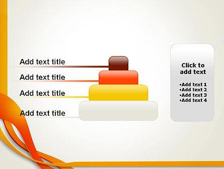 Orange Stream Waves PowerPoint Template Slide 8