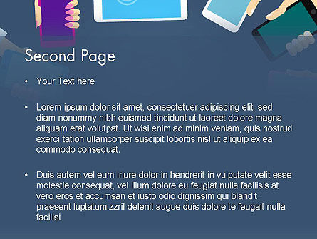 World of Mobile Gadgets PowerPoint Template, Slide 2, 13946, Technology and Science — PoweredTemplate.com
