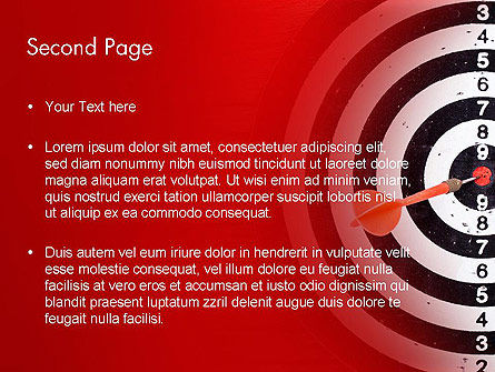 Dart Hitting Target PowerPoint Template Slide 2