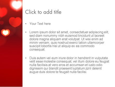 Hearts Love Theme PowerPoint Template, Slide 3, 13949, Holiday/Special Occasion — PoweredTemplate.com