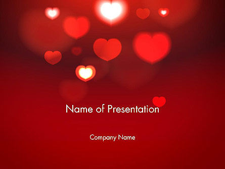 Holiday/Special Occasion: Hearts Love Theme PowerPoint Template #13949