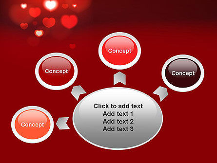 Hearts Love Theme PowerPoint Template Slide 7