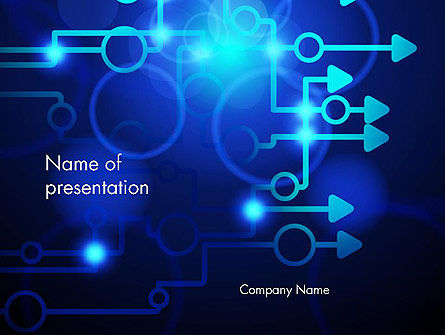 Blue Techno PowerPoint Template, 13950, Technology and Science — PoweredTemplate.com