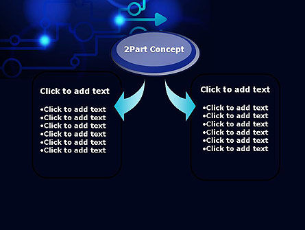 Blue Techno PowerPoint Template, Slide 4, 13950, Technology and Science — PoweredTemplate.com