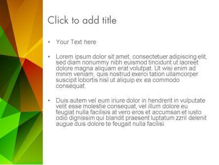 Yellow Polygonal PowerPoint Template, Slide 3, 13951, Abstract/Textures — PoweredTemplate.com