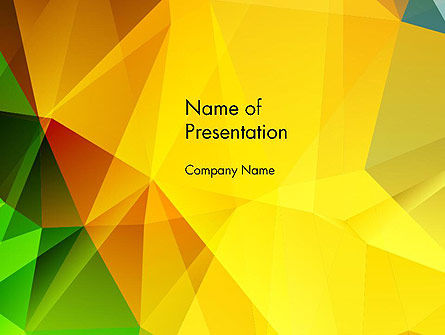 Yellow Polygonal PowerPoint Template