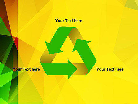 Yellow Polygonal PowerPoint Template Slide 10