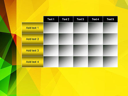 Yellow Polygonal PowerPoint Template Slide 15