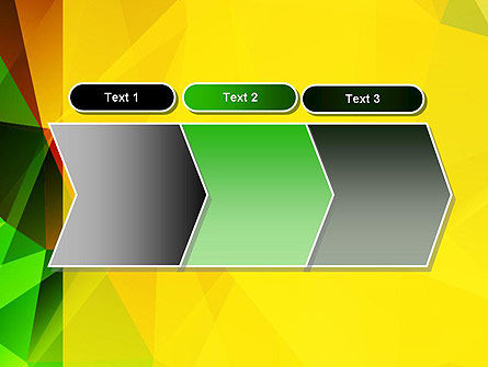 Yellow Polygonal PowerPoint Template Slide 16