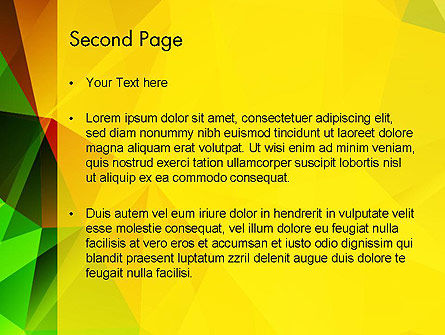 Yellow Polygonal PowerPoint Template Slide 2