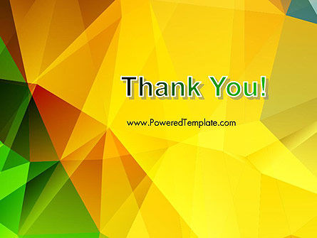 Yellow Polygonal PowerPoint Template Slide 20