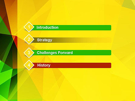 Yellow Polygonal PowerPoint Template Slide 3