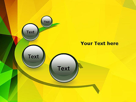 Yellow Polygonal PowerPoint Template Slide 6