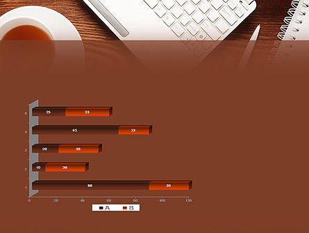 Top View on Wooden Desk PowerPoint Template Slide 11