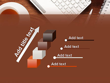 Top View on Wooden Desk PowerPoint Template Slide 14