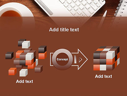 Top View on Wooden Desk PowerPoint Template Slide 17