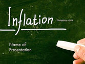 Financial/Accounting: Inflation Lettering PowerPoint Template #13956