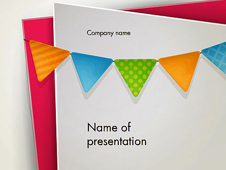 Holiday/Special Occasion: Paper Birthday Banner PowerPoint Template #13958