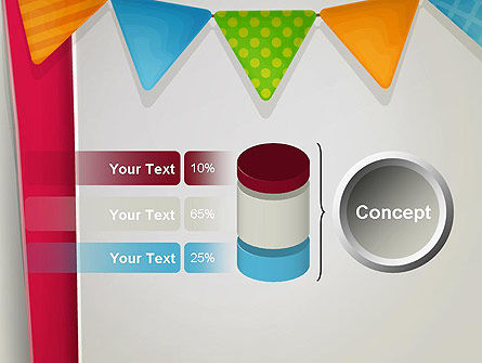 Paper Birthday Banner PowerPoint Template Slide 11