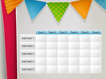 Paper Birthday Banner PowerPoint Template Slide 15