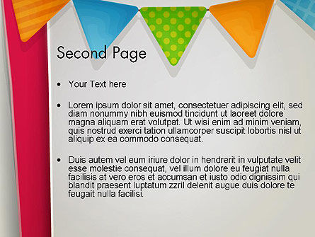Paper Birthday Banner PowerPoint Template Slide 2