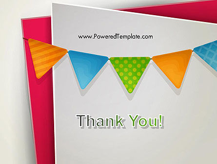 Paper Birthday Banner PowerPoint Template Slide 20
