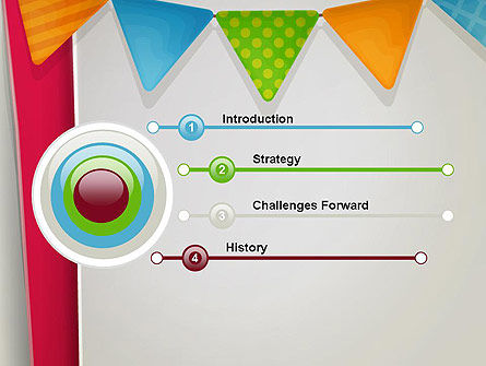 Paper Birthday Banner PowerPoint Template Slide 3