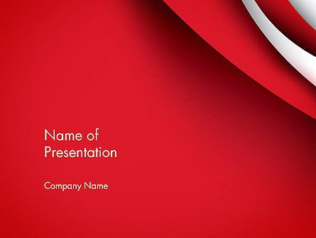 Curves in The Corner PowerPoint Template