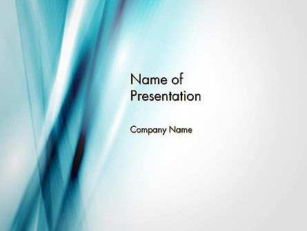 Abstract Air Flow PowerPoint Template