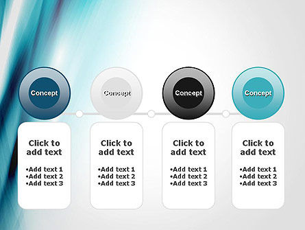 Abstract Air Flow PowerPoint Template Slide 5