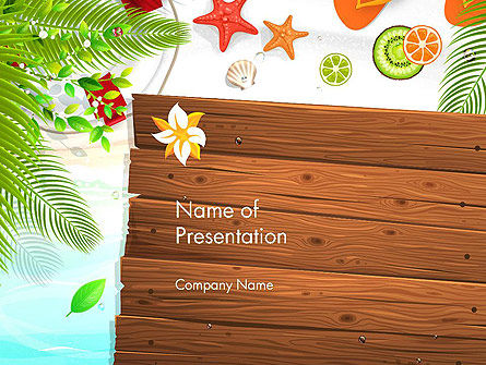 Holiday/Special Occasion: Tropical Holidays PowerPoint Template #13962