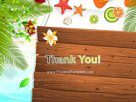 Tropical Holidays PowerPoint Template Slide 20