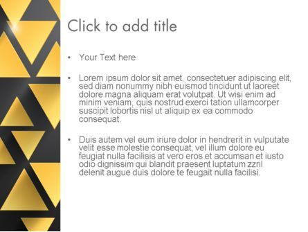 Gold Triangles PowerPoint Template, Slide 3, 13964, Abstract/Textures — PoweredTemplate.com