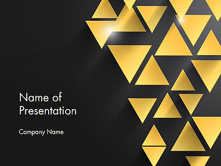 Gold Triangles PowerPoint Template