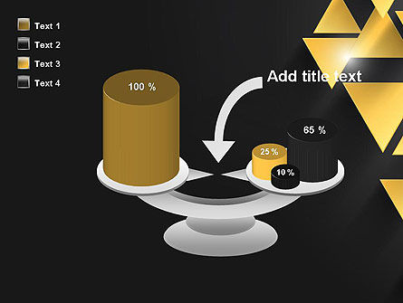 Gold Triangles PowerPoint Template Slide 10