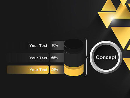Gold Triangles PowerPoint Template Slide 11