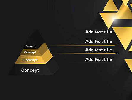 Gold Triangles PowerPoint Template Slide 12