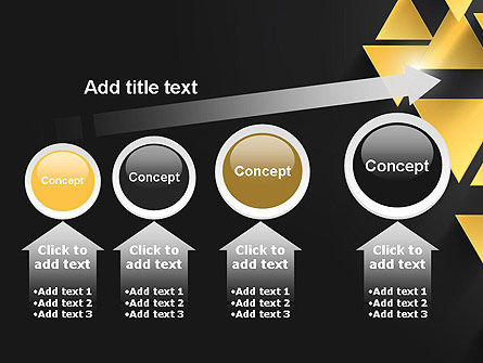 Gold Triangles PowerPoint Template Slide 13