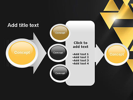 Gold Triangles PowerPoint Template Slide 17