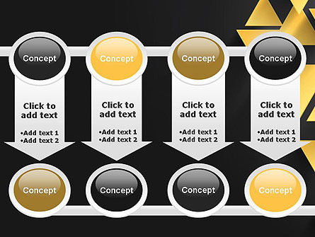 Gold Triangles PowerPoint Template Slide 18