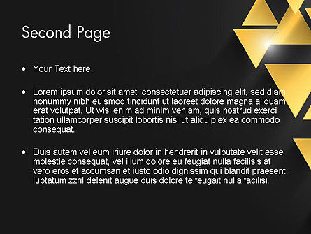 Gold Triangles PowerPoint Template Slide 2