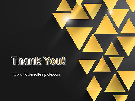 Gold Triangles PowerPoint Template Slide 20