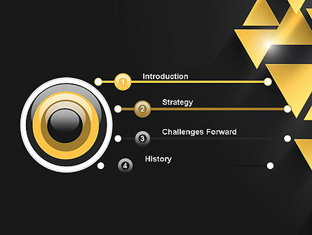 Gold Triangles PowerPoint Template Slide 3