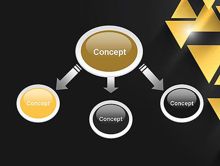 Gold Triangles PowerPoint Template Slide 4