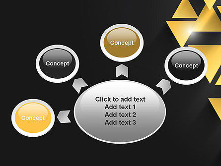 Gold Triangles PowerPoint Template Slide 7