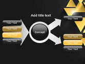 Gold Triangles PowerPoint Template#14
