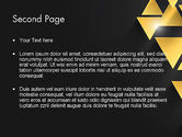 Gold Triangles PowerPoint Template#2