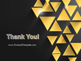 Gold Triangles PowerPoint Template#20