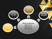 Gold Triangles PowerPoint Template#7